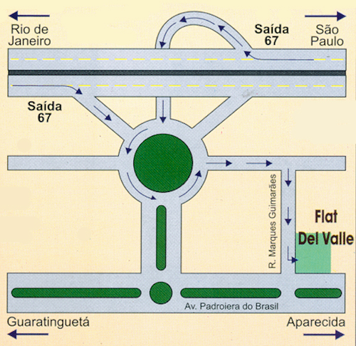 mapa do Hotel Del Valle Avenue